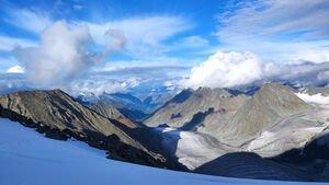 Вид с горы Ак-Оюк. Алтай, район г.Белуха.